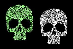 Floral human skull