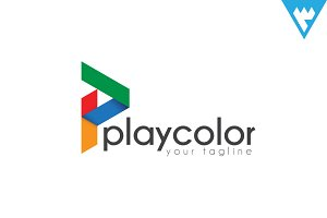 Play Color - Letter P logo