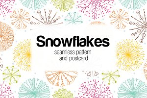 Snowflakes.Winter pattern.