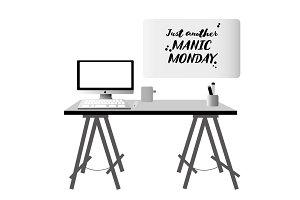 Vector desk/whiteboard 5+ items!