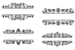 Header frame with floral elements