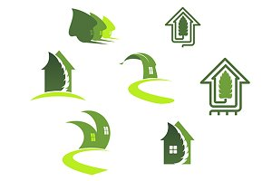 Green ecological symbols