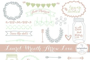 Wedding cliparts