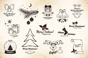 12 Christmas and New Year symbols