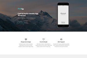 MobiApp - Responsive App Template