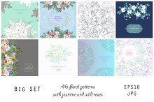 Hand Drawn Flowers 46 patterns