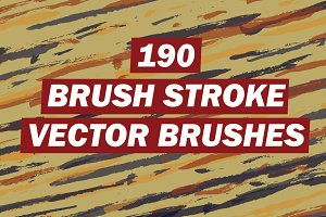 190 Brush Stroke Vector Brushes