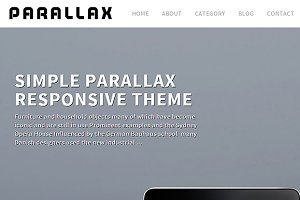Parallax Theme Responsive WordPress