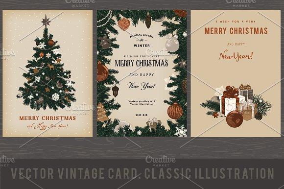 Christmas Card. Retro - Illustrations