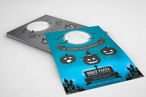 Halloween flyer template -V100