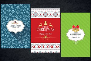 3 Christmas greeting cards