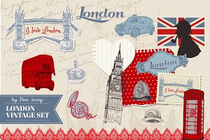London vintage set