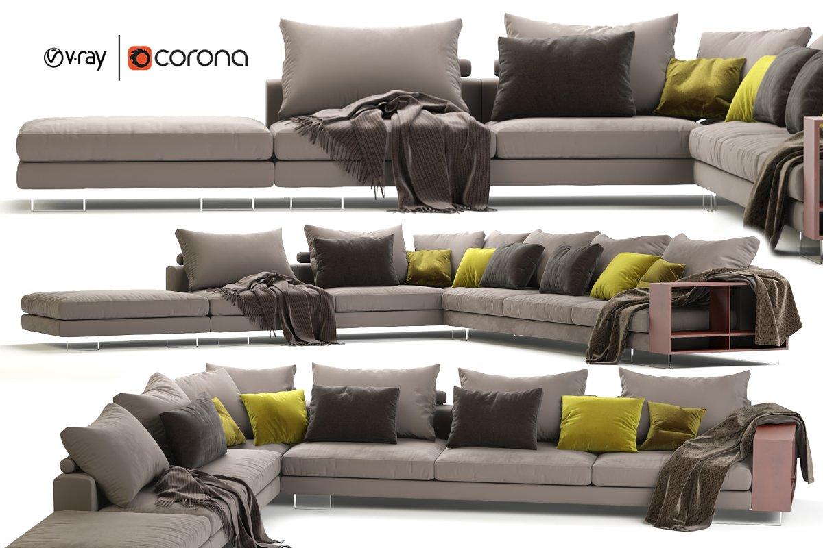 Flexform Lightpiece Modular Sofa