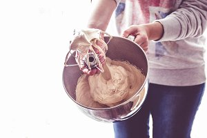 Whisk with meringue
