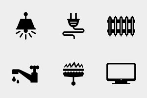 Home utilities icons