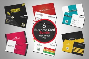 6 Stylish business cards bundle