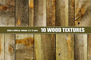 10 old distressed wood textures