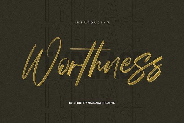 Worthness SVG Brush Font Free Sans