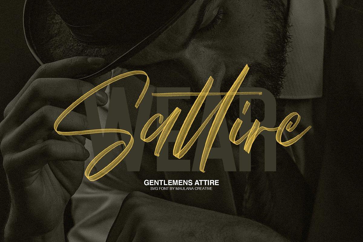 Worthness SVG Brush Font Free Sans   Stunning Script Fonts ...