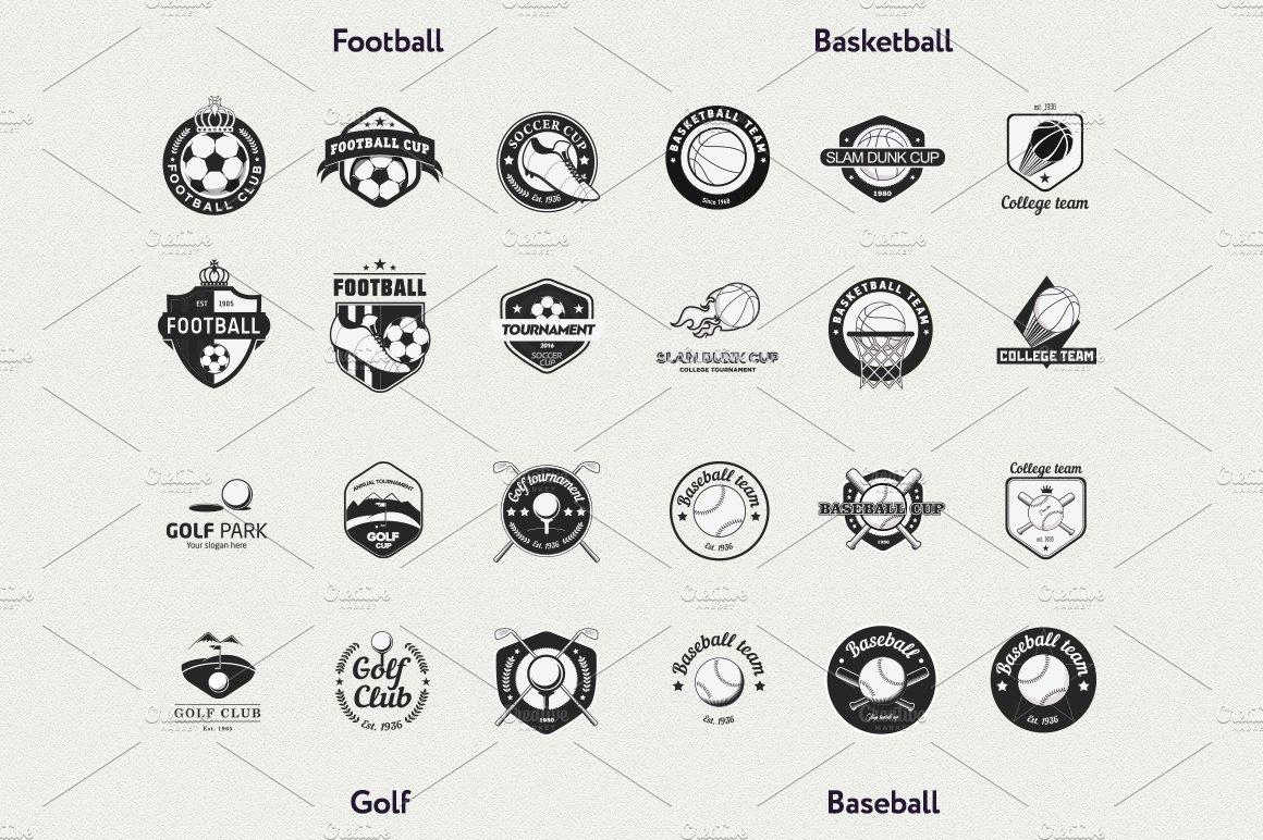 24 vector sport logo templates logo templates creative market