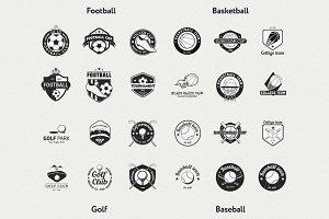 24 vector sport logo templates
