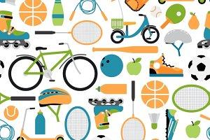Vector healthy sport pattern