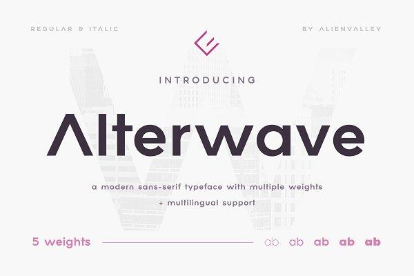 Alterwave - Sans Serif Font Family