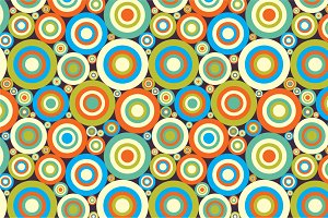"Seamless pattern ""Colorful circles"""