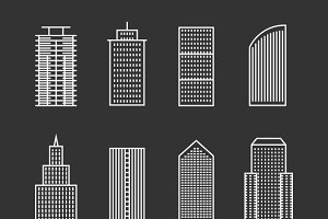 Vector line buildings