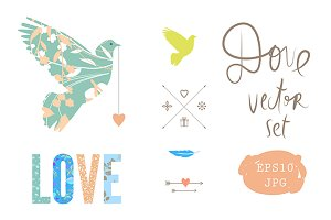Dove Vector SET