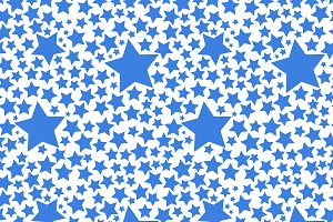 Blue stars on white pattern