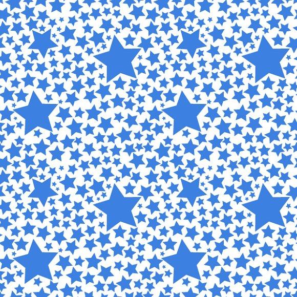 Blue stars on white pattern