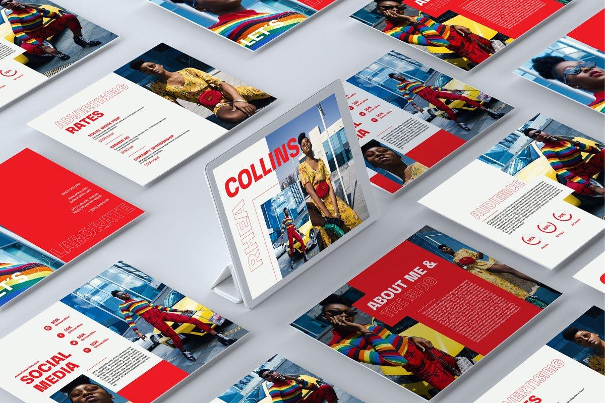 Crimson Media Kit Template