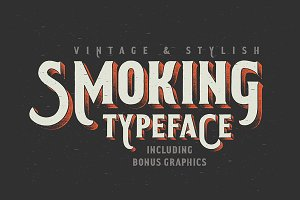 Smoking typeface + Illustration