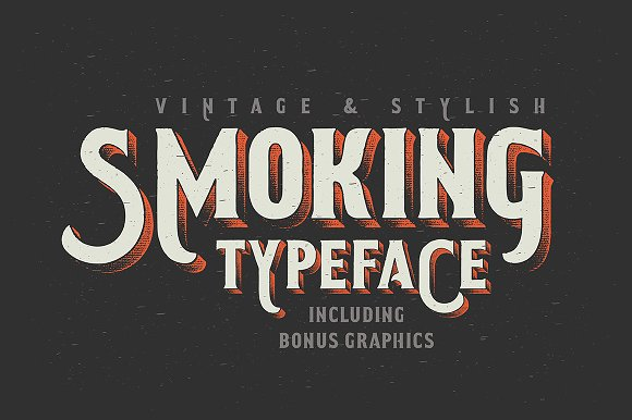 Smoking Typeface Illustration Display Fonts Creative Market