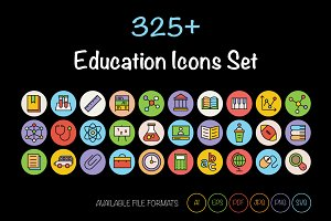 325+ Education Icons Set