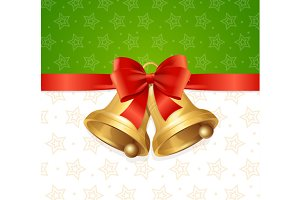Christmas Bell Card Backround.