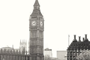 Big Ben from across the Thames