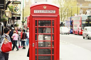 Iconic Red Telephone Booth - London