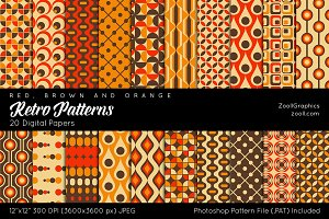 Retro Patterns Digital Papers