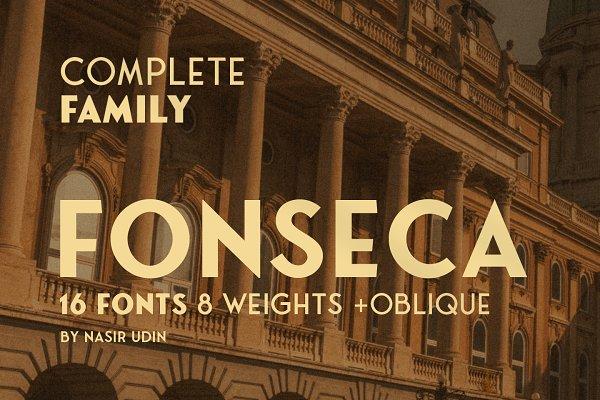 Fonseca ver.02 - 16 Fonts