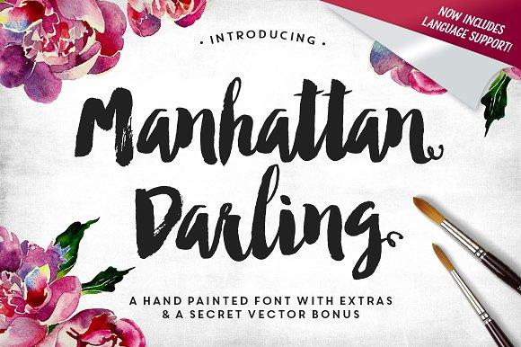 manhattan darling typeface bonus script fonts creative market