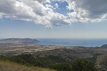 Semi-desert area of the sea coast