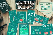❆Hand drawn winter cards❆