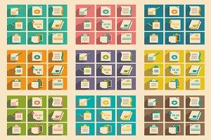 Flat concept business folders