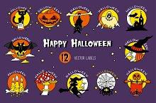 Happy Halloween vector icons