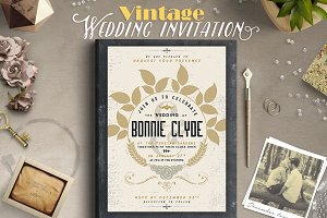 Vintage Wedding Invitation III