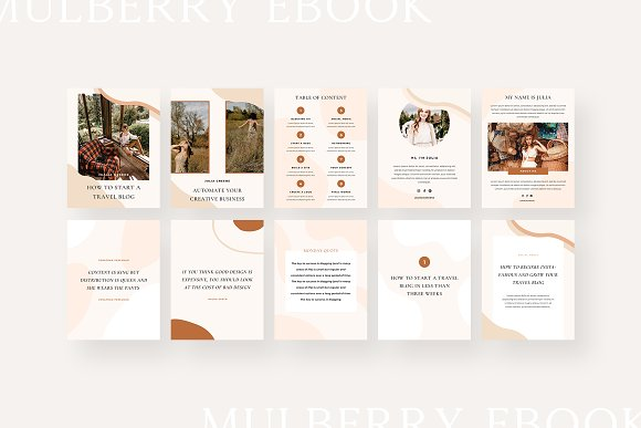 Mulberry Ebook | CANVA in Magazine Templates - product preview 7