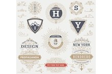 Labels, banners and design elements
