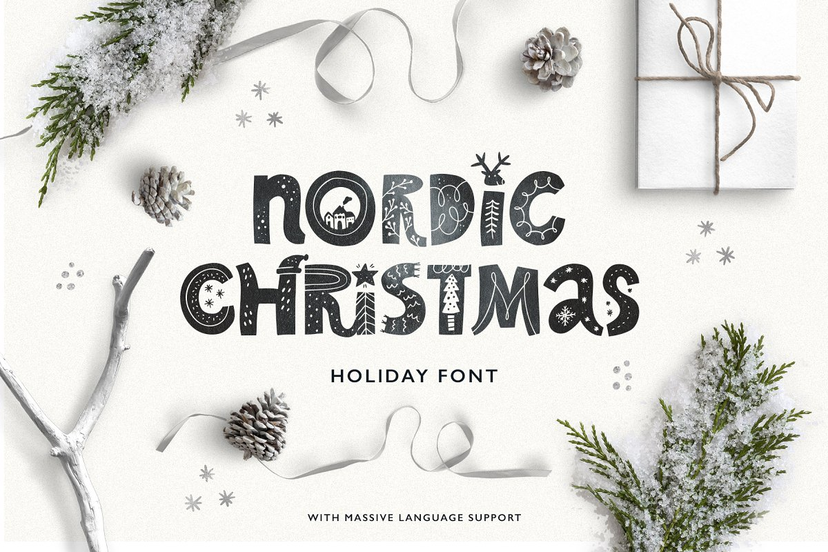 Nordic Christmas - scandinavian font